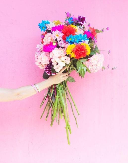 Flower-bouquet-spring-hydrangeas-peonies