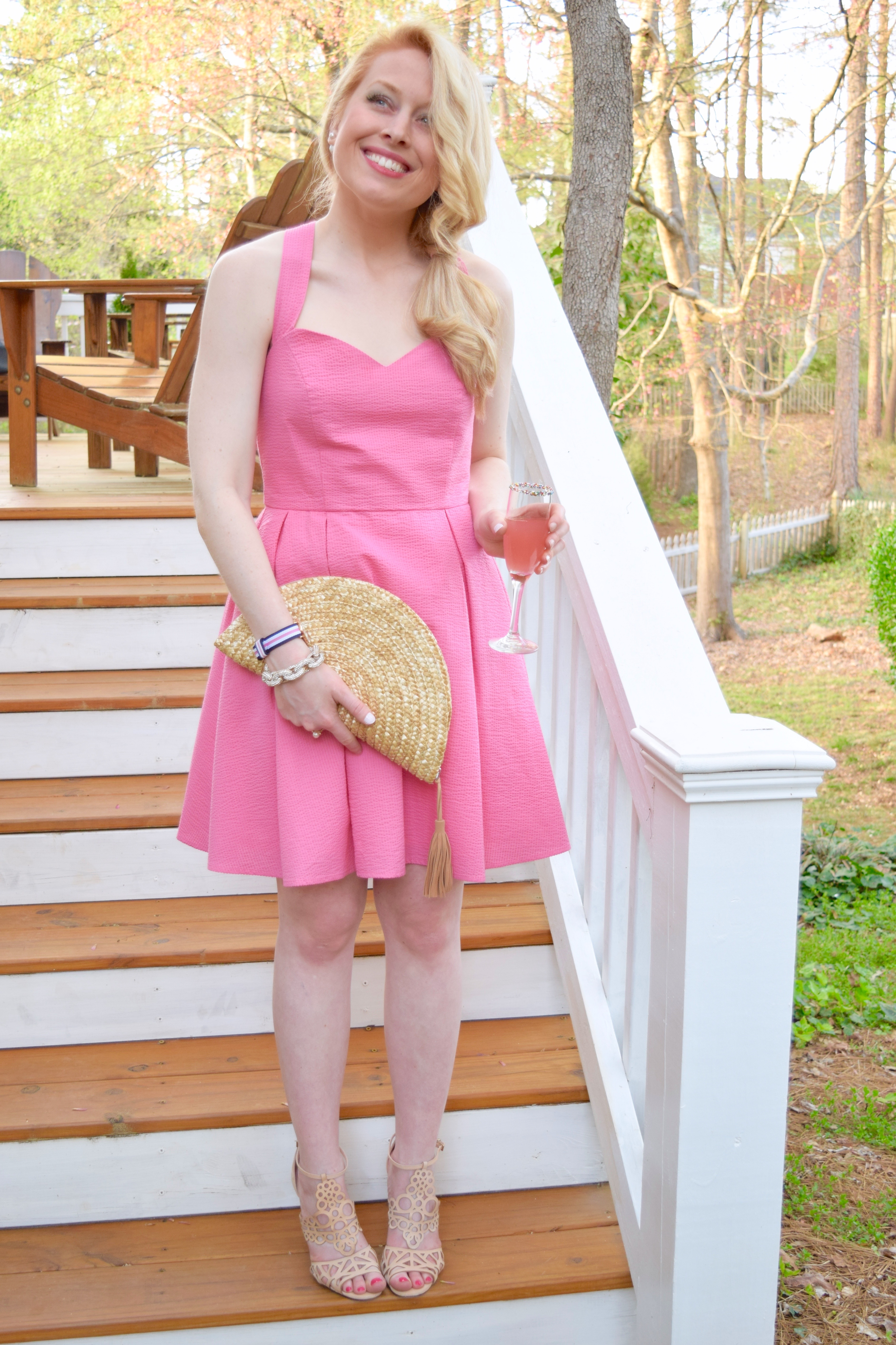 Pink Easter Dress Fashion Style Blogger Heather Graham